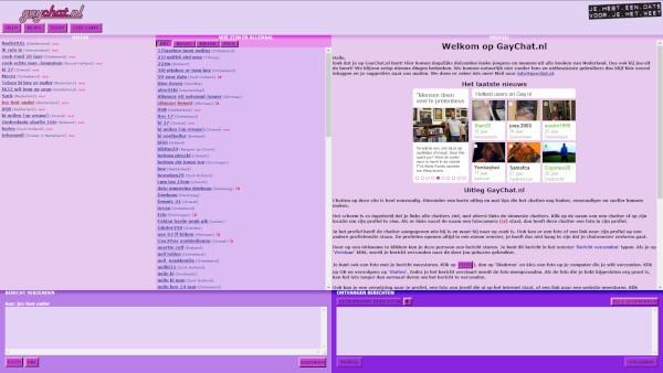 De chatbox van Gaychat